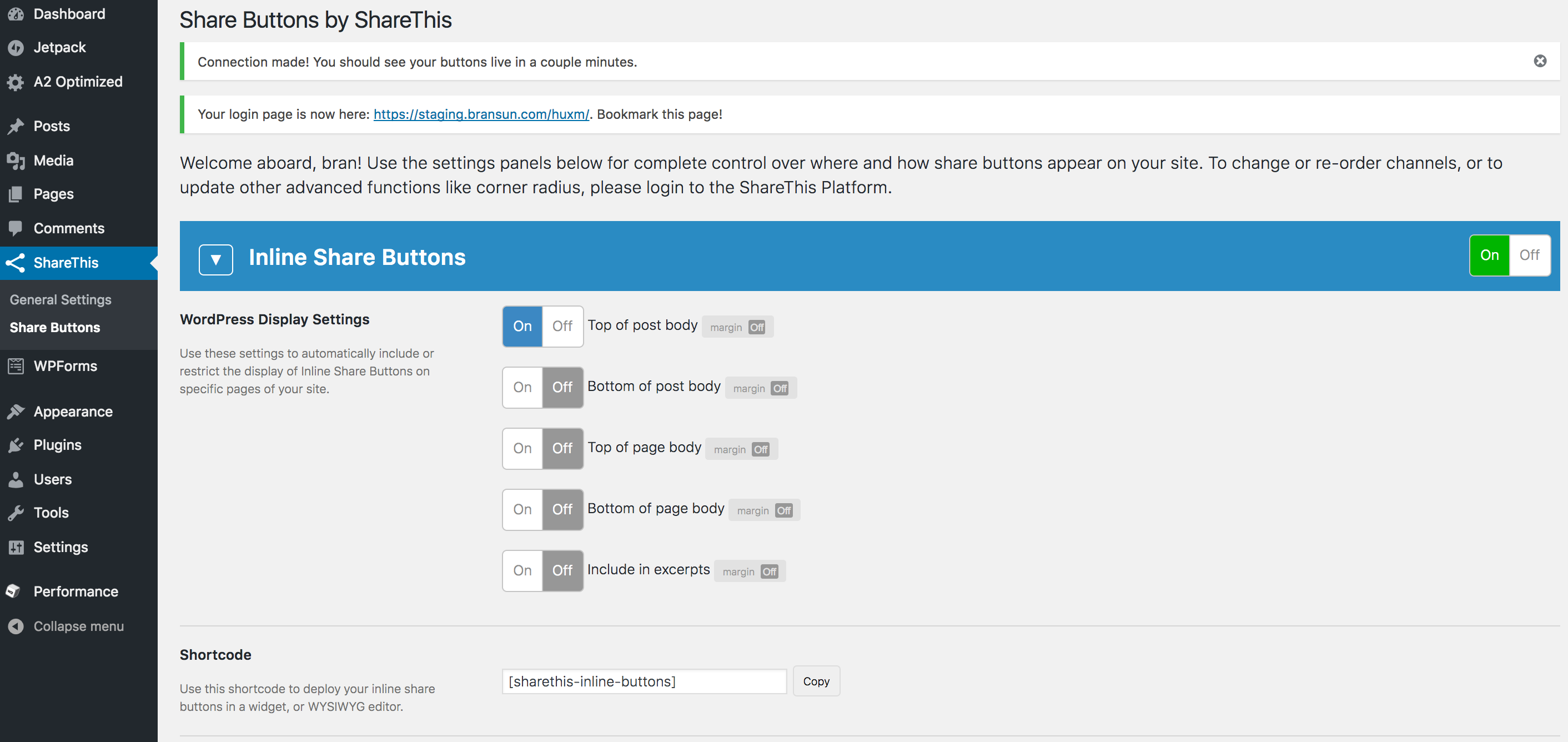NEW): How to Install Share Buttons on Wordpress - ShareThis