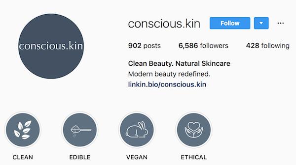 Instagram bio examples conscious.kin