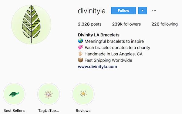 Instagram bio examples divinityla
