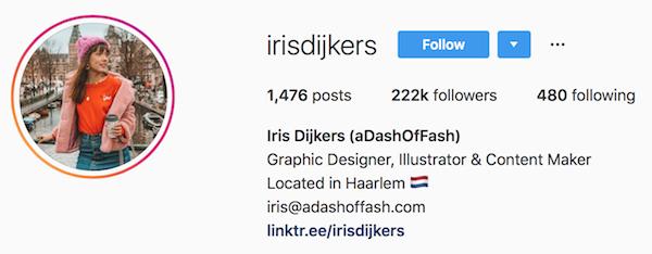 Instagram bio examples irisdijkers