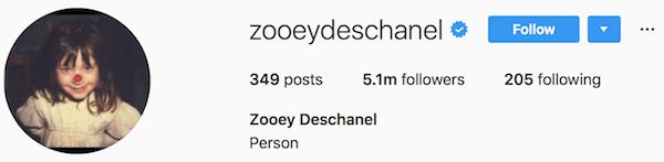 Instagram bio examples zooeydeschanel