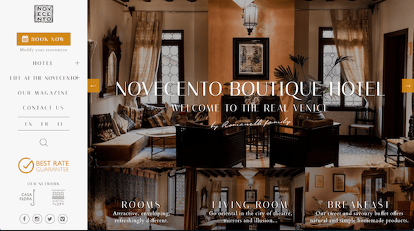 Novecento hotel unique value proposition UVP