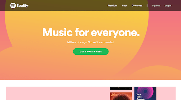 Spotify unique value proposition UVP